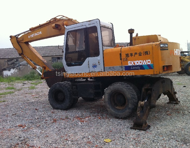 Used japanese hitachi excavator EX100WD, japan origin, cheap and good condition EX100WD excavator!