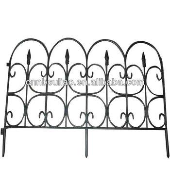 Black Decorative Plastic Garden Fencegarden Edging Fence Buy