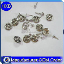 Silver plated cheap price badge pins with metal back for badge