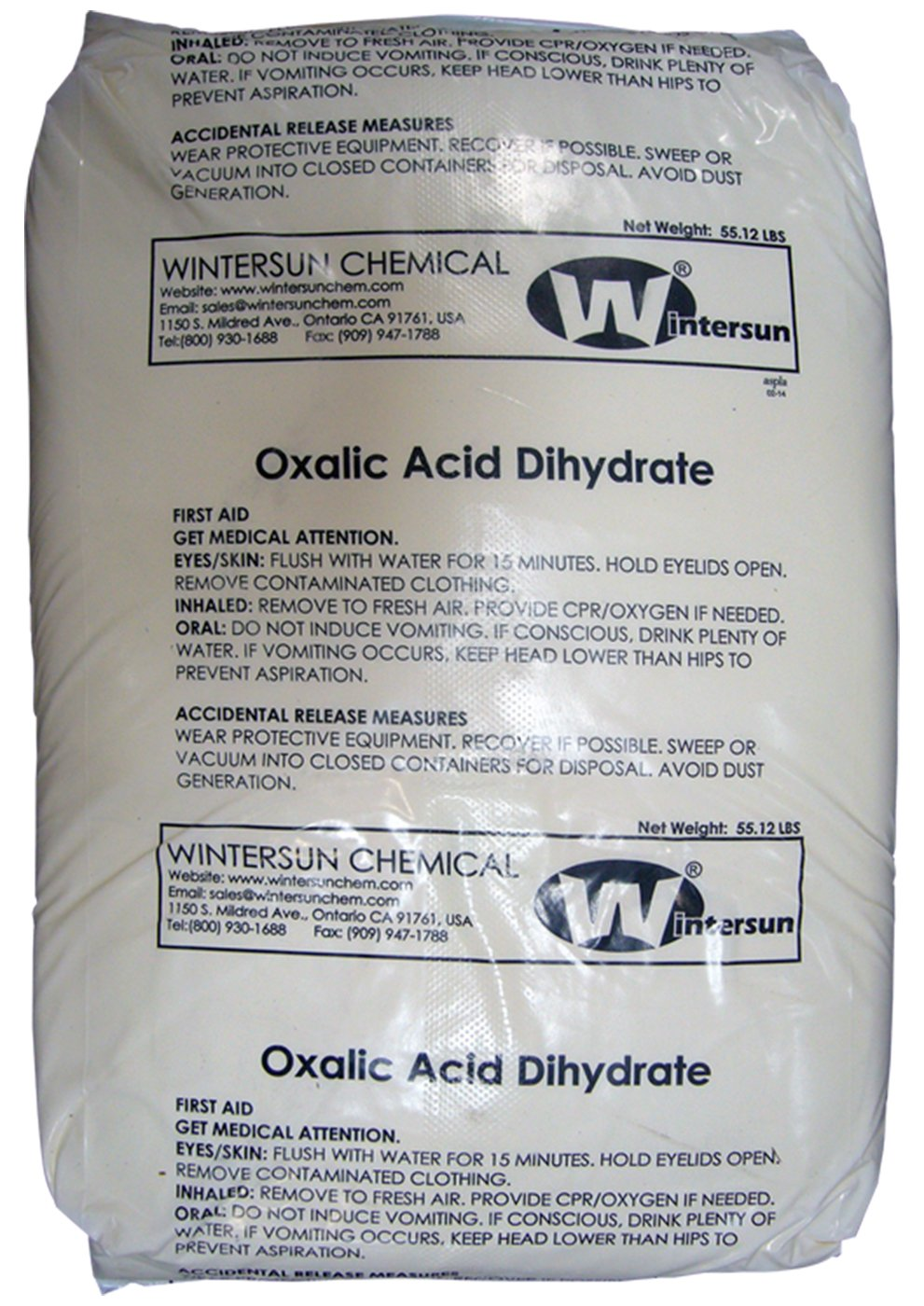 Oxalic Acid Dihydrate [C2H2O4.2H20] [CAS_6153-56-6] 99.6+% Fine White Crystal (55.12 Lbs Bag) by Wintersun Chemical