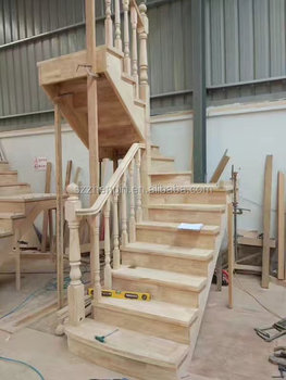 Solid Wooden Staircase Column Newel Post Stringer Stair Nosing