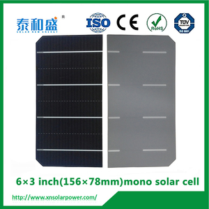 large stock highest efficiency 156x156mm 4bb bus bar mono silicon solar cell for sale