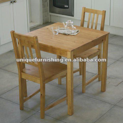 Massief houten eetkamer sets, 2 persoons eettafel voor kleine ruimtes eetkamer sets product ID