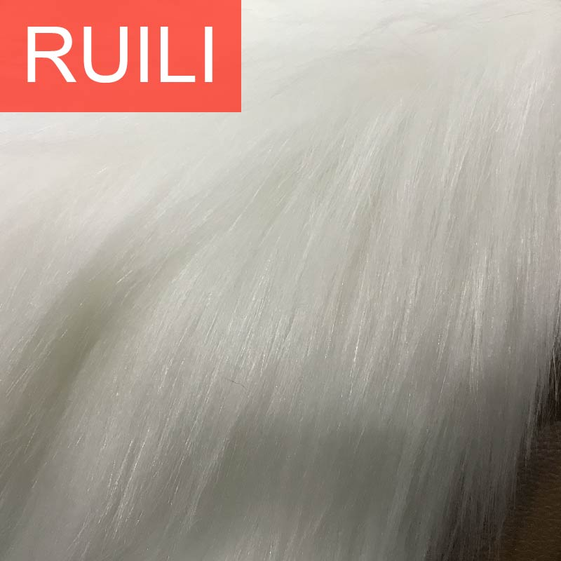 Soft white faux fur fabric used for women bags