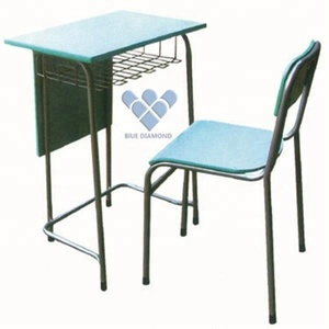 Middle school furniture set classroom student single desk and chair furniture for study