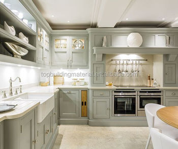 Custom made high end interior light grey shaker kitchen design