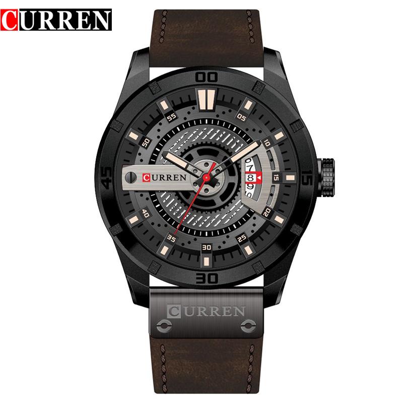 Curren 8301 Luxury Male Wristwatches Business Date Clock Military Big Dial Leather Strap Top Brand Men Sports Quartz Watch Hot фото