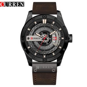 Curren 8301 Luxury Male Wristwatches Business Date Clock Military Big Dial Leather Strap Top Brand Men Sports Quartz Watch Hot