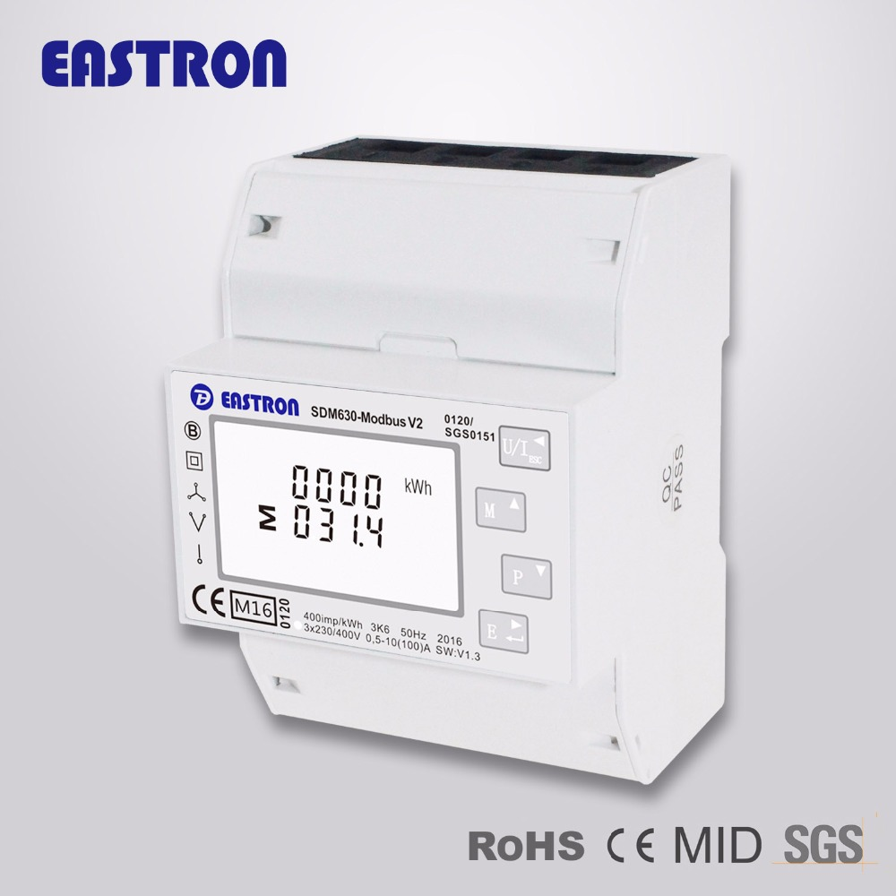 Sdm630-modbus V2 Three Phase Modbus Energy Meter,Bi-directional,Rs485  Rtu,Mid Approved - Buy Modbus Meter,Rs485 Modbus Meter,Din Rail Modbus  Meter