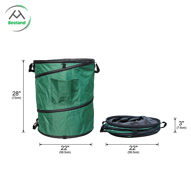 Quality assurance waterproof portable garden leaf collector bags