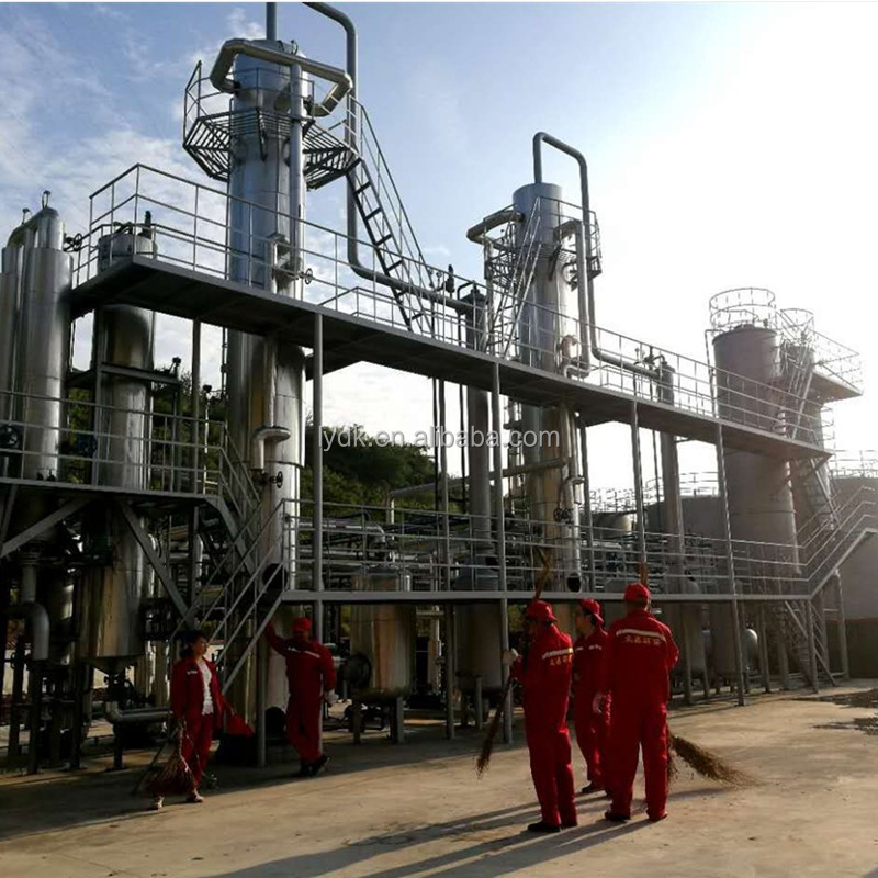 Continuous running engine oil recycling distillation plant with diesel and base oil yield