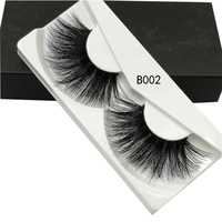 B wholesale korean siberian individual real faux waterproof strong 3d mink eyelash extension strips
