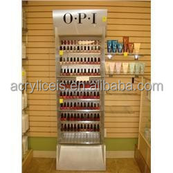 Weitu customized high-end professional cheap new design nail polish perfume lipstick display wall rack