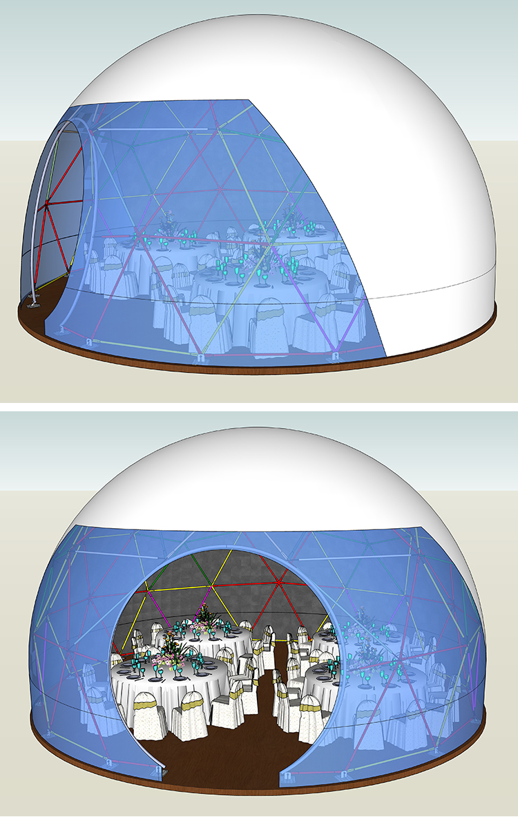 polygon dome tent diamrter in different shape for disaster Relief-4
