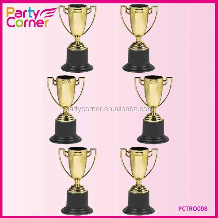 Mini Trophy Cups Gold For Party