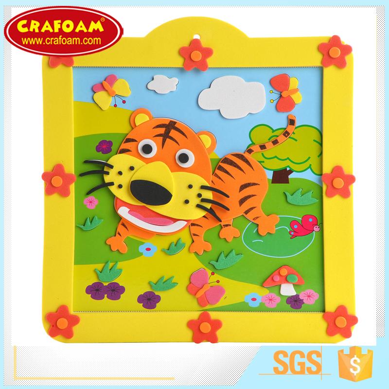 Kids Funny Photo Frames Eva Diy Craft Work Cartoon Eva Photo Frame