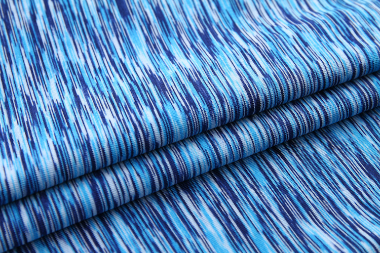 Factory supplier DTY jersey knit polyester space dye fabric for sportswear