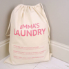 Wholesale recycled canvas clothing packaging cotton laundry bag