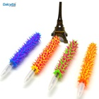 "Spiky pen silicone promotional pen grip dozen assorted colors & designs 5.5"" party favor"