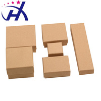Most popular wholesale high quality hot selling Kraft paper jewelry box for custom logo