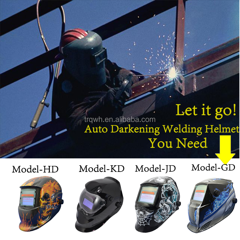 Solar safety type face en379 auto darkening mig tig adjustable welding mask