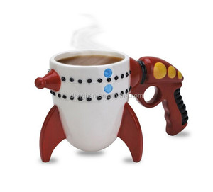 novelty products funny ceramic gun coffee mug for gift or promotion