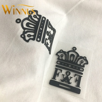 custom logo printing clothes caps iron on 3d embossed pressed heat transfer silicone label for t-shirt swimwear fabric shoes