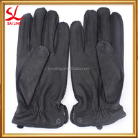 Professional Mens Smoking Gloves With Warm Lining Golf Glove Leather