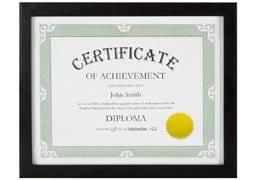 Model T Certificate Document Picture Frame Made to Display Certificates 8.5x11 Inch - Document Frames, Certificate Frames, Standard Paper Frame - BLACK