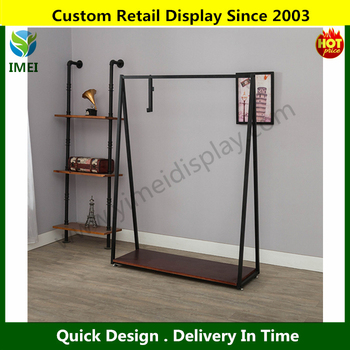 furniture design metal clothes rack Free Standing metal retail clothing display rack YM07361