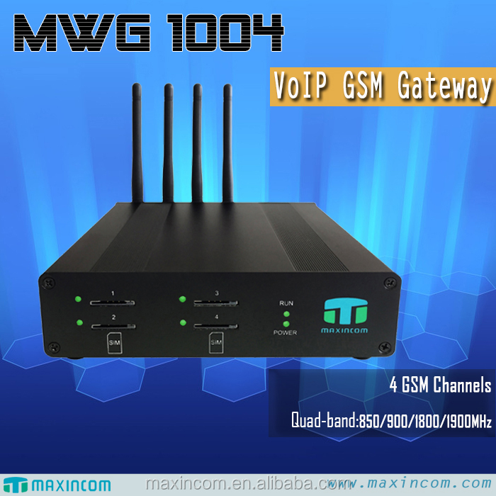 4 Channels VOIP GSM Gateway used mobile phones <strong>internet</strong> <strong>business</strong> solution