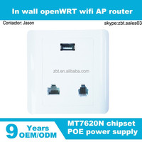 IEEE 802.af standard 300Mbps wifi wall mount access point powered by POE or 100~240V AC