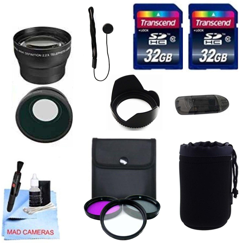 Pentax Lenses 77mm DM Optics 2X Telephoto Lens Includes 12-24mm, 14mm, 16-50mm, 200mm, 300mm Lens Caps and Lens Bag For The Pentax Kr Kx K5 K7 SLR Cameras SLR Cameras Which Have Any Of These
