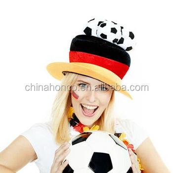 Dense velvet germany football fans cap german fan polyester hat for WM 2018 220f8ecc6e9