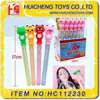 Wholesale 37CM five holes cartoon animals soap bubble blow stick ...