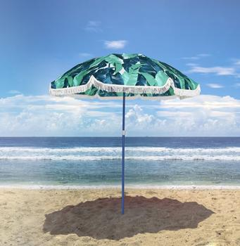 Shengming Fashion Camouflage Umbrella Beach Umbrellas With Fringe
