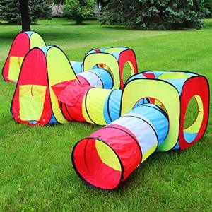 8 in 1 Pop-up Play Tent Tunnel, kids Tents Perfect for Ball Pit Playing