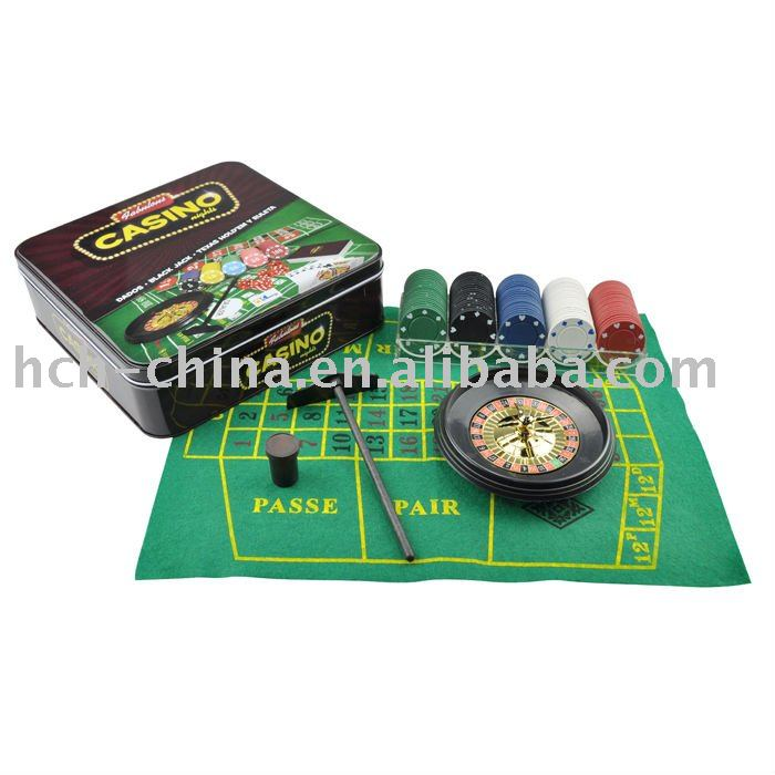 5 In 1 Casino Poker Game Set, Roulette,Poker,Blackjack,Craps,Poker Dice