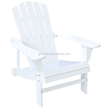 Outdoor Log Wood Adirondack Lounge Chair Patio Deck Garden Furniture White