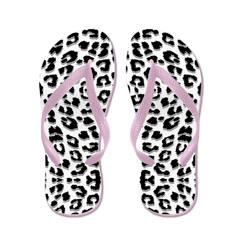 d8491a2f3ac9d Get Quotations · CafePress Snow Leopard Print - Flip Flops