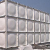 ISO Standard square sectional fiberglass grp water tank, frp water tank, smc water tank