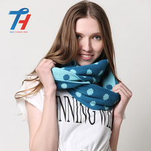 Blue Fashion Fringe Lady Long Best Quality Cheap Woven Acrylic Scarf