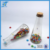350ml cone shape glass juice bottle with cork