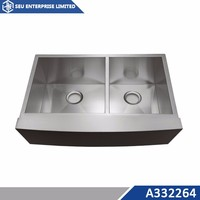 Discount 304 Stainless Steel Equal Double Kitchen Farm Sink