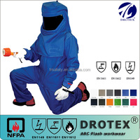 IEC61482 HRC II 100% cotton FR AS Fabrics for Electrical Arc Flash Apparel and oil gas welding workers