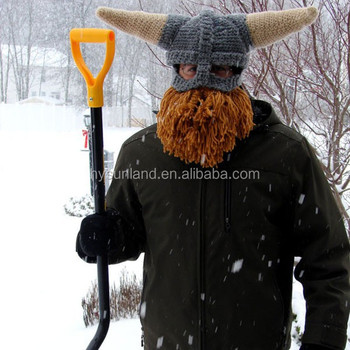 W 179 Handmade Crocheted Viking Helmet Hat For Winter Ski Mask Buy