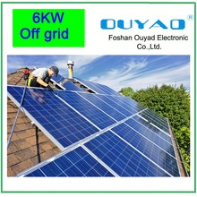 Normal Specification and 6kw solar home system Home Application renewable energy