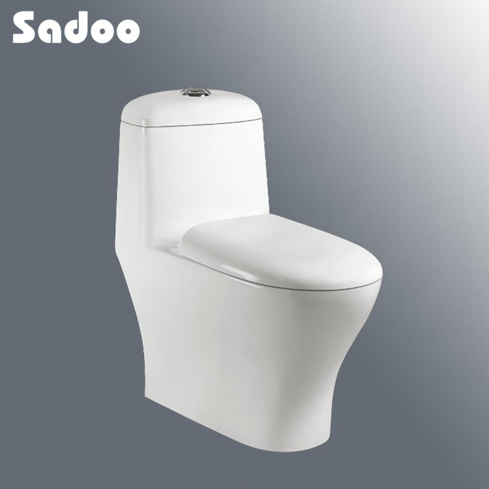 S trampa de una pieza de ba o sin tanque de agua ba os for Wc sin agua