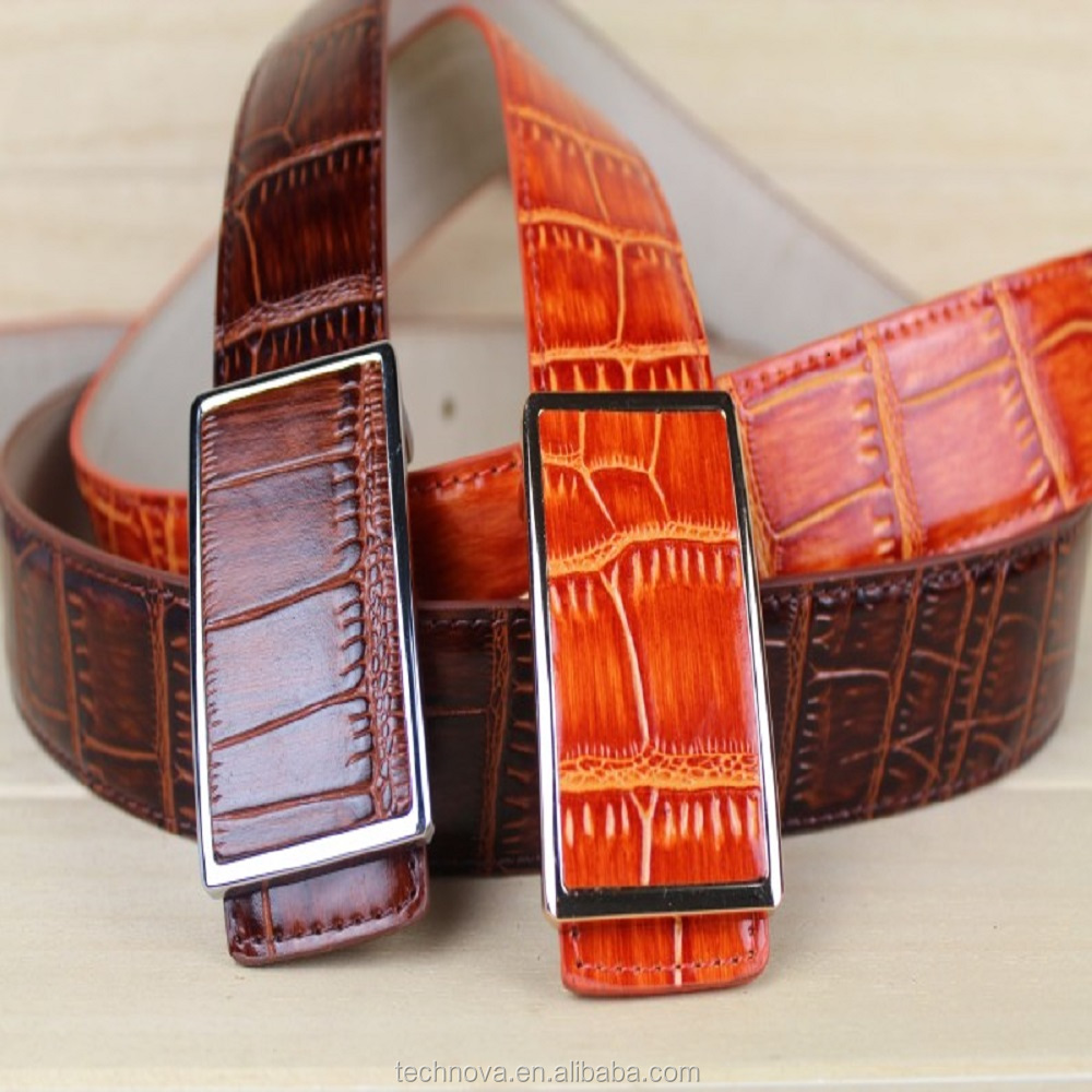 Genuine Leather Belt Auto Buckle