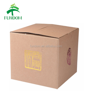 custom luxury red hot foil logo stamped recyclable cheap foldable creative packaging small brown cardboard gift boxes with lid